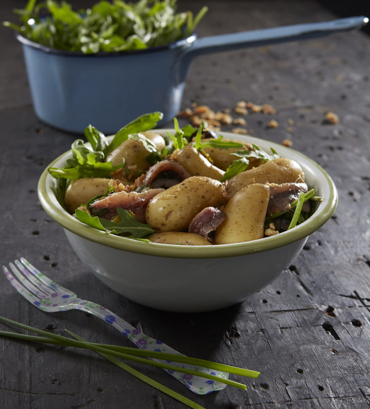 Salade de ratte du touquet aux anchois la recette facile - Cuisiner la ratte du touquet ...