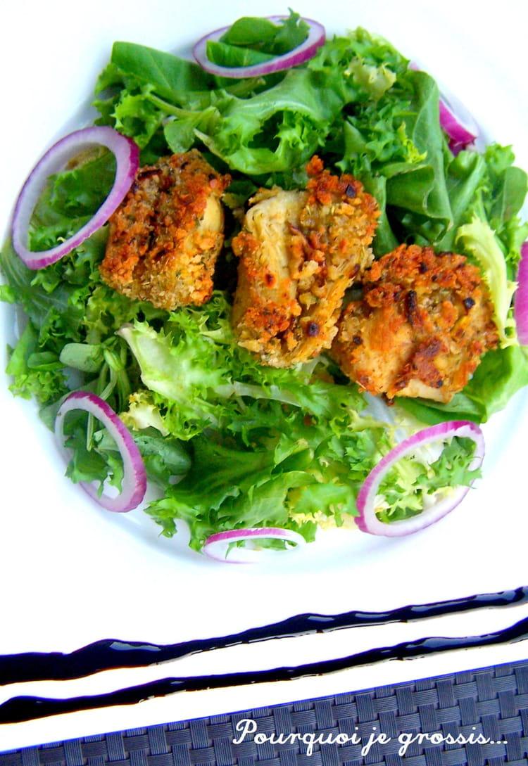 Cuisine Ikea Ou Brico Depot : Salade mêlée, oignons rouges et artichauts panés  la recette