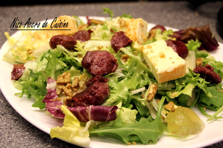 recette de salade aux g siers confits herve et noix la recette facile. Black Bedroom Furniture Sets. Home Design Ideas
