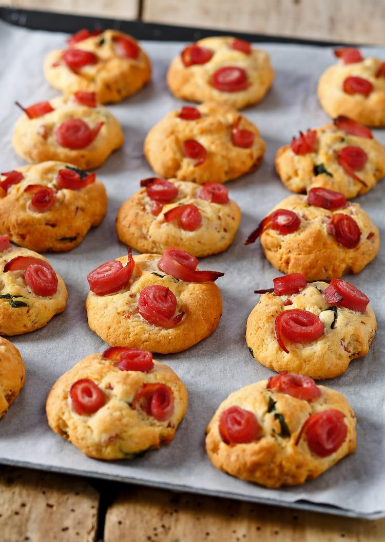 recette de cookies sal s au jambon basilic parmesan la recette facile. Black Bedroom Furniture Sets. Home Design Ideas