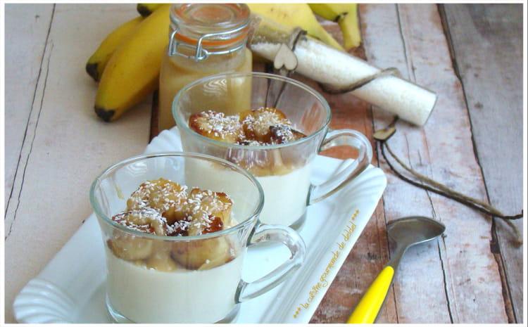 Recette de panna cotta la noix de coco et la banane la recette facile - Panna cotta noix de coco ...