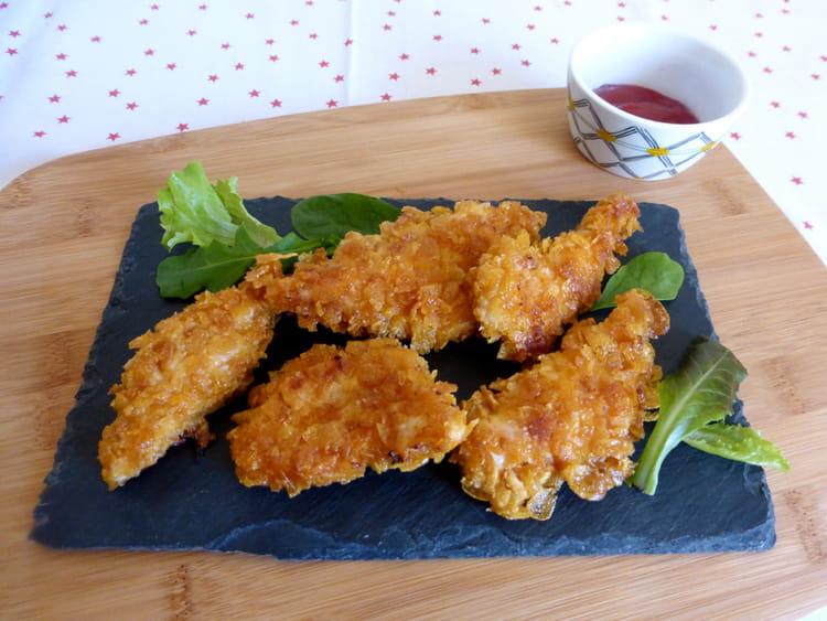 recette de poulet pan aux corn flakes au four la recette facile. Black Bedroom Furniture Sets. Home Design Ideas