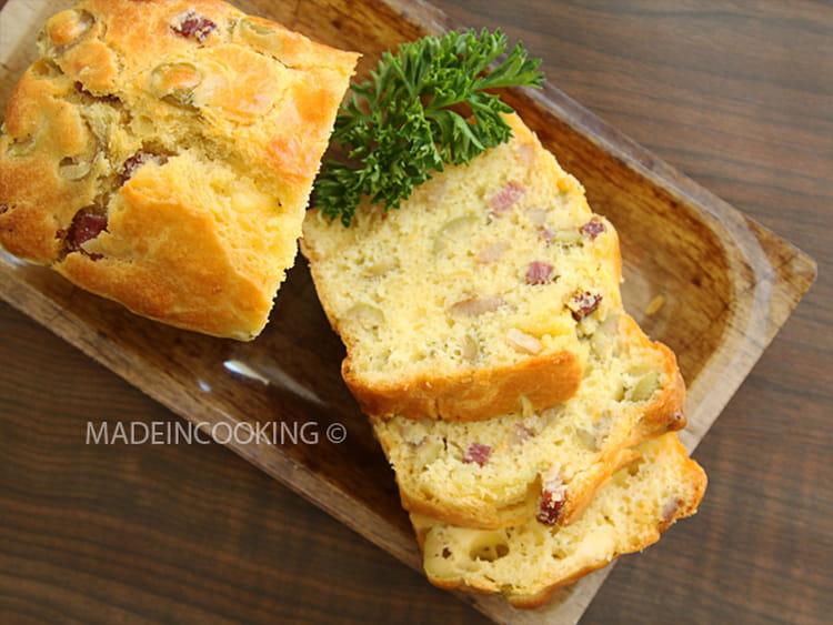 Recette Cake Lardon Olive Oignon
