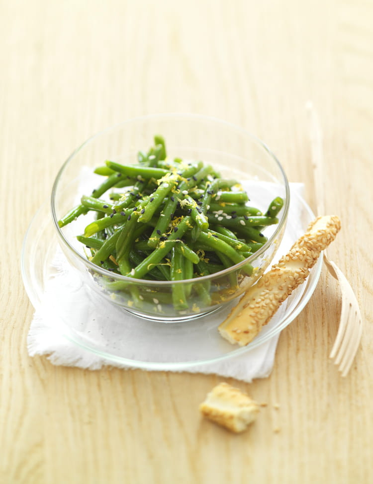 Recette de salade de haricots verts au th vert la - Cuisiner haricots verts surgeles ...