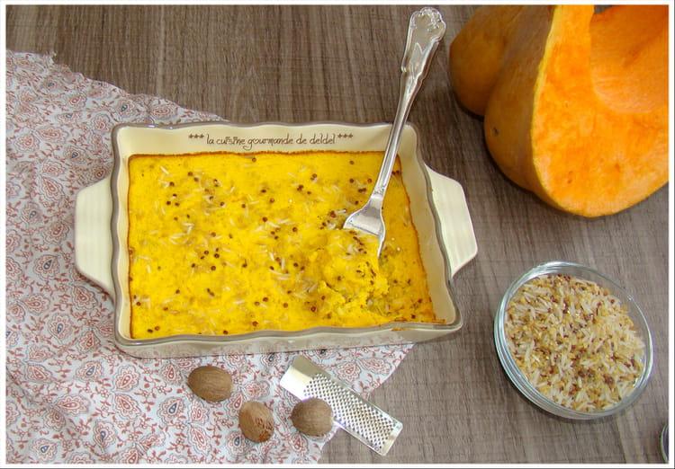 recette de flan de potiron riz basmati boulgour quinoa rouge la recette facile. Black Bedroom Furniture Sets. Home Design Ideas