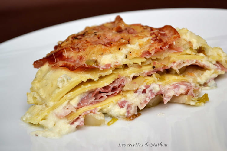 recette de lasagnes aux chicons et la pancetta grill e. Black Bedroom Furniture Sets. Home Design Ideas
