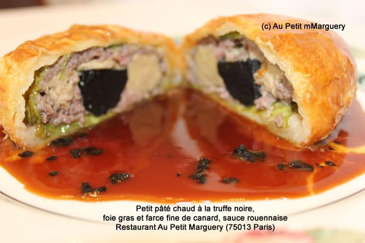 recette de petit p t chaud la truffe noire foie gras et farce fine de canard sauce. Black Bedroom Furniture Sets. Home Design Ideas