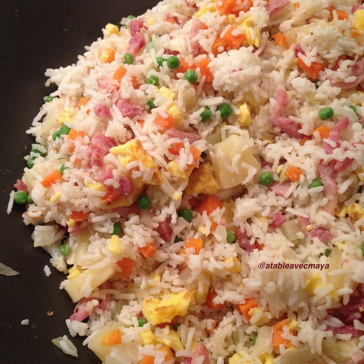 Recette de riz saut l 39 ananas et au poulet la recette facile - Quantite de riz par personne ...