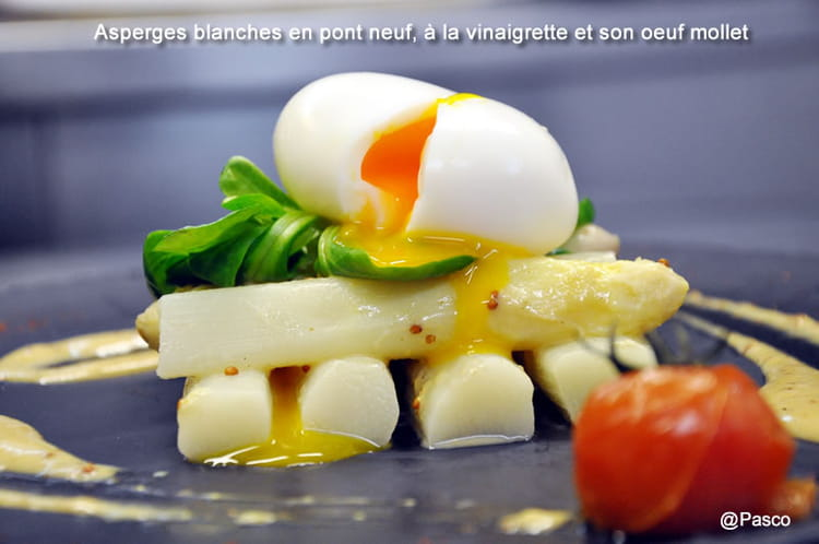 recette asperges blanches en pont neuf la vinaigrette et. Black Bedroom Furniture Sets. Home Design Ideas