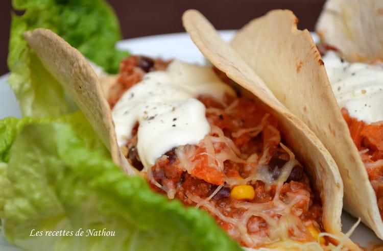 recette de tacos express au chili con carne la recette facile. Black Bedroom Furniture Sets. Home Design Ideas