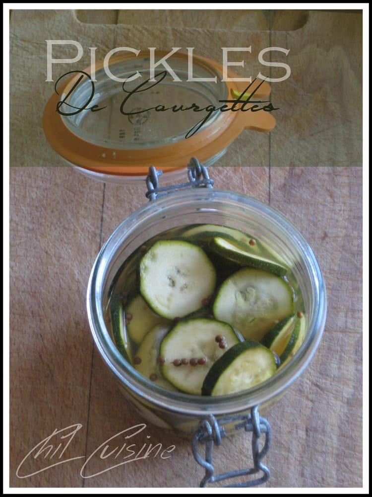 recette de pickles de courgettes la recette facile. Black Bedroom Furniture Sets. Home Design Ideas
