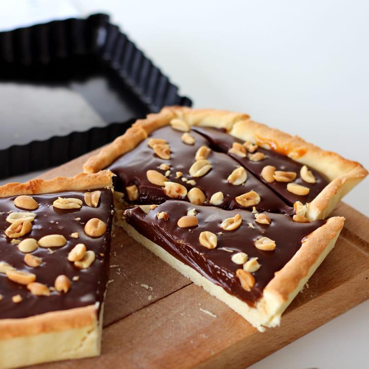 Tarte au chocolat et confiture de lait la recette facile - Tarte aux chocolat facile ...