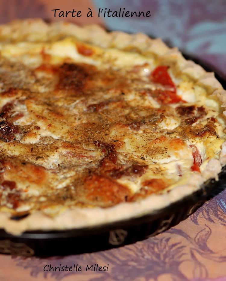 recette de tarte l 39 italienne tomates mozza la recette facile. Black Bedroom Furniture Sets. Home Design Ideas