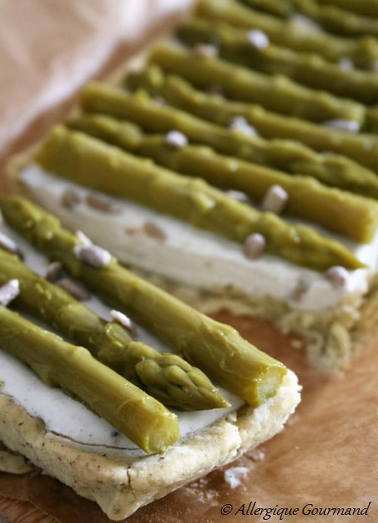 Recette de tarte aux asperges ricotta bio sans oeufs et sans gluten la recette facile - Tarte aux poireaux sans oeufs ...