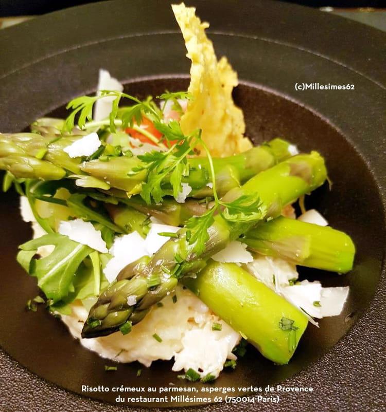 recette de risotto cr meux au parmesan asperges vertes de provence la recette facile. Black Bedroom Furniture Sets. Home Design Ideas