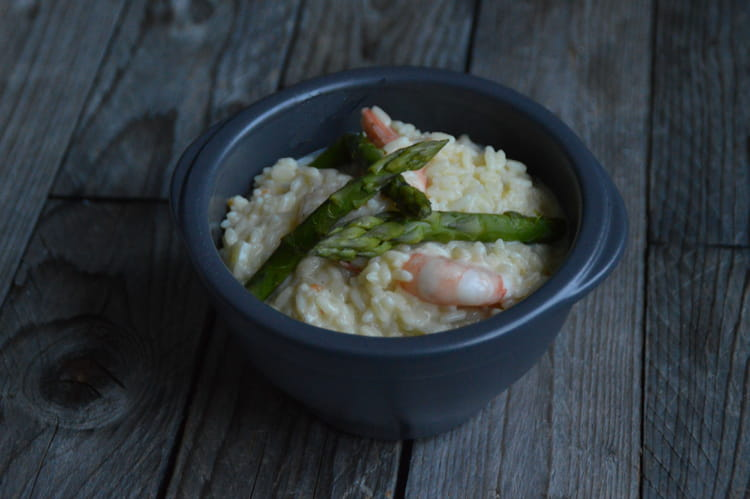 recette de risotto aux crevettes et asperges la recette facile. Black Bedroom Furniture Sets. Home Design Ideas