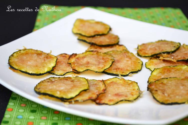 Recette de chips de courgettes grill es au parmesan la recette facile - Recette chataignes grillees ...