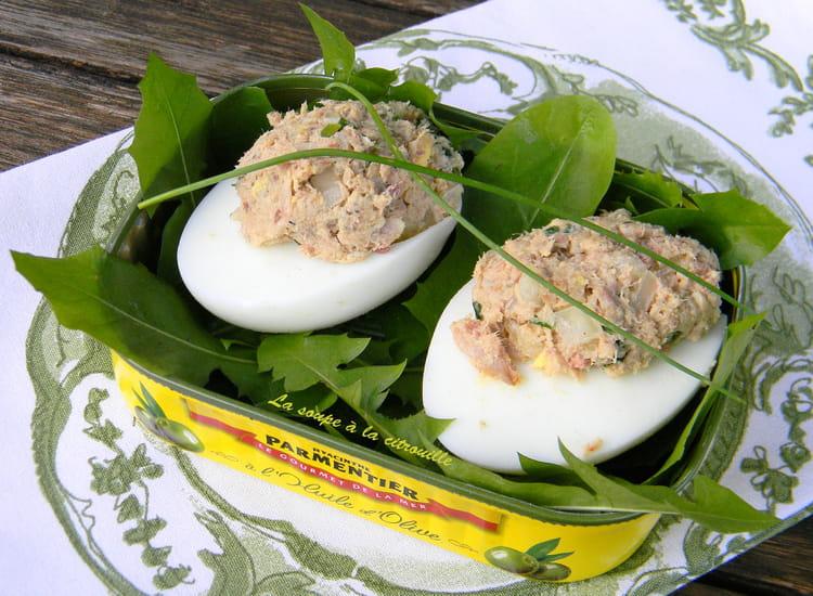 Recette oeufs durs farcis aux sardines la recette facile - Recette avec oeuf dur ...