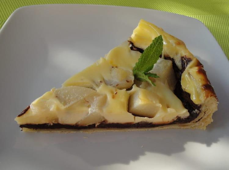 Recette tarte aux poires et chocolat dessert aux fruits - Recette tarte aux chocolat ...