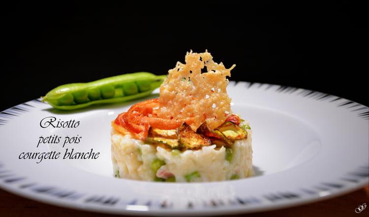 recette de risotto petits pois courgette blanche la recette. Black Bedroom Furniture Sets. Home Design Ideas