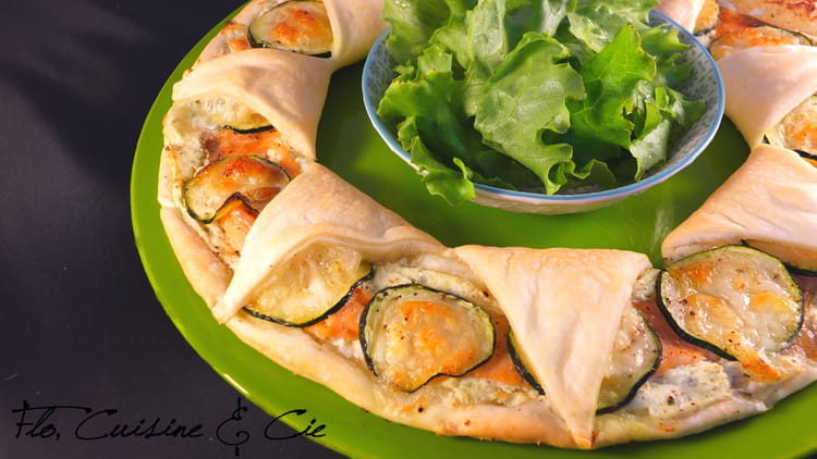 Recette de tarte feuillet e au saumon et courgettes et boursin la recette facile - Courgette boursin cuisine ...