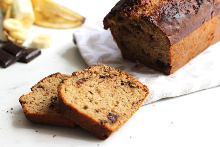 recette de banana bread au beurre de cacahu te et chocolat la recette facile. Black Bedroom Furniture Sets. Home Design Ideas