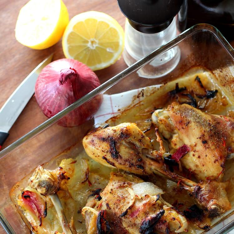 Recette de poulet au four safran et citron - Cuisiner poulet au four ...