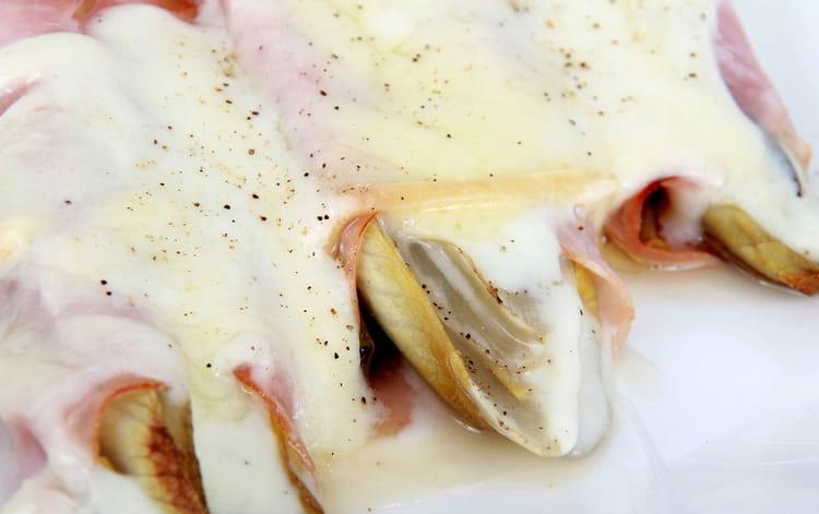 Recette endives au jambon la recette facile - Cuisiner endives au jambon ...