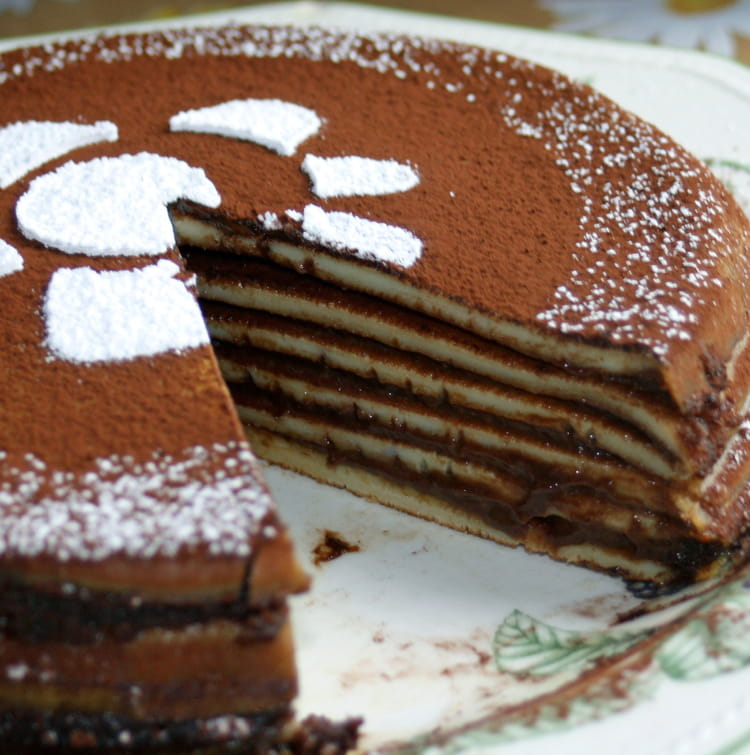 Recette de gâteau de crêpes au chocolat