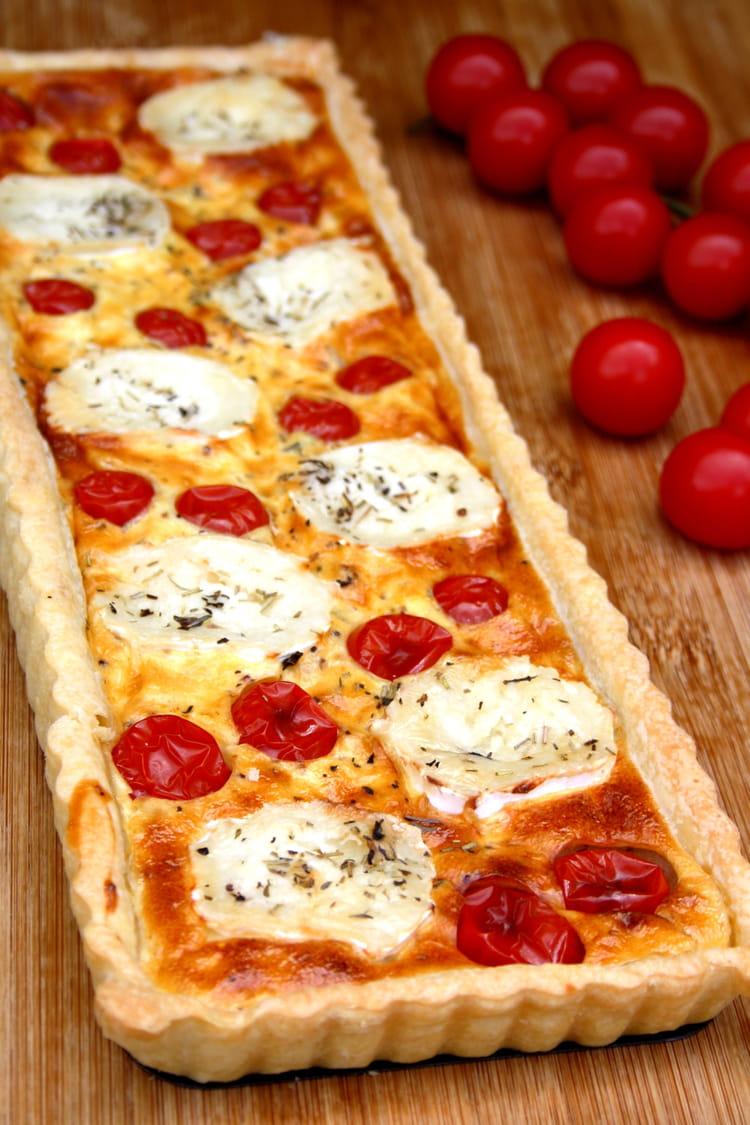 recette de tarte au fromage de ch vre et tomates cerises la recette facile. Black Bedroom Furniture Sets. Home Design Ideas