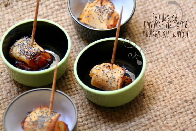 Recette de feuilles de pommes de terre roul es au jambon la recette facile - Feuille pomme de terre ...