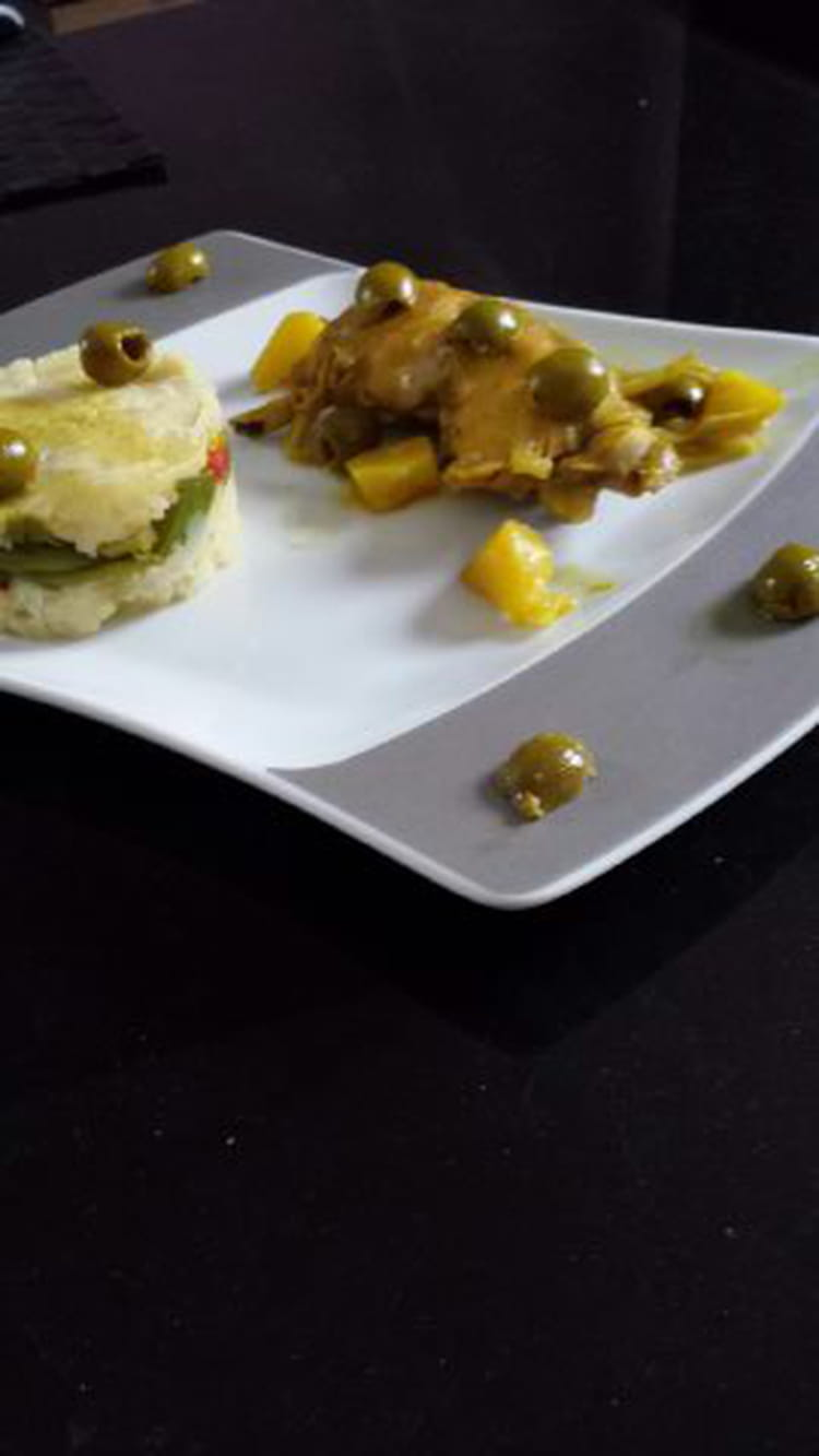 recette de poulet aux olives en tajine cras de pomme de terre aux l gumes la recette facile. Black Bedroom Furniture Sets. Home Design Ideas