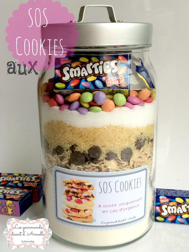 Recette De Sos Cookies Aux Smarties La Recette Facile