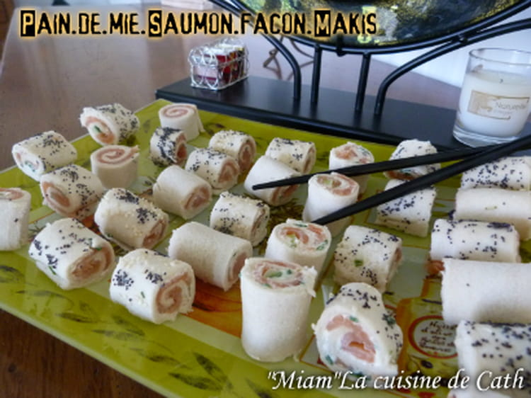 recette de pain de mie saumon fa on makis la recette facile. Black Bedroom Furniture Sets. Home Design Ideas