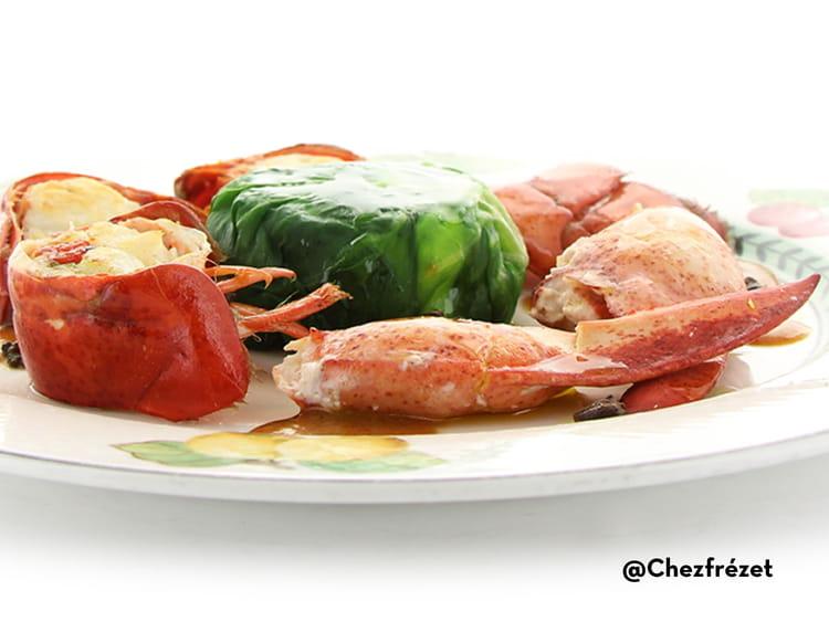 Recette de homard cuit au court bouillon sauce coraill e - Cuisiner blettes feuilles ...