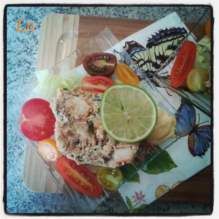 recette de terrine de thon et crabe au surimi la recette. Black Bedroom Furniture Sets. Home Design Ideas