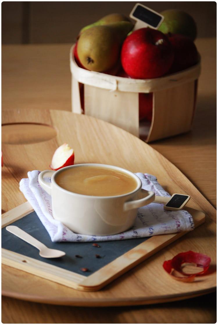 recette de compote pommes poires miel et vanille la. Black Bedroom Furniture Sets. Home Design Ideas