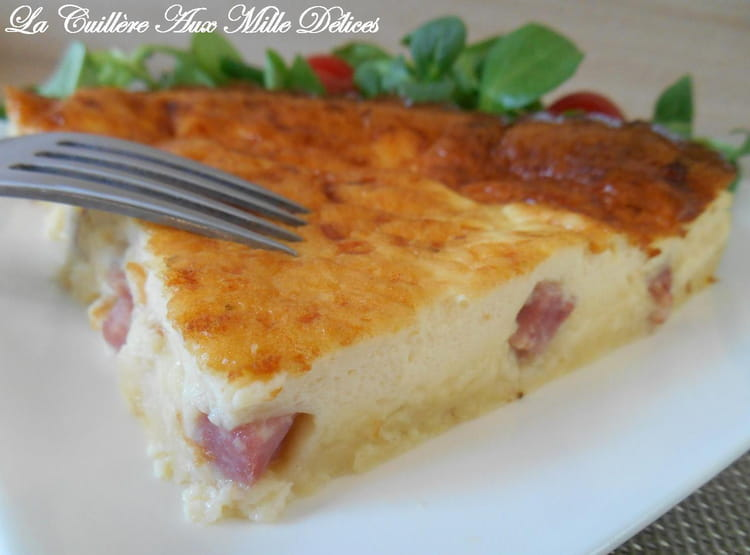 quiche sans p 226 te jambon et fromage la recette facile