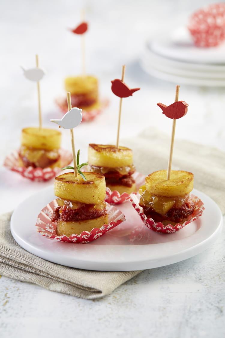 Recette de macaron de ratte du touquet au confit d oignons et chorizo la recette facile - Cuisiner la ratte du touquet ...