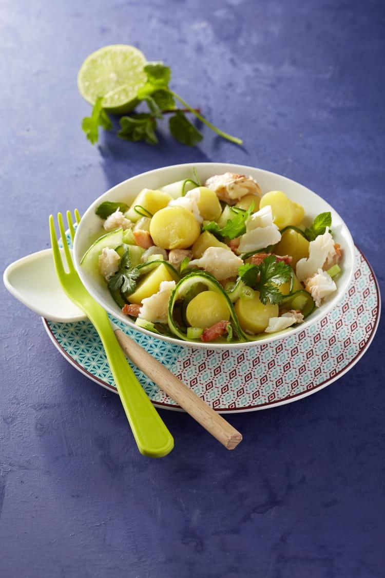 Recette de salade de ratte du touquet au concombre et au crabe la recette facile - Cuisiner la ratte du touquet ...