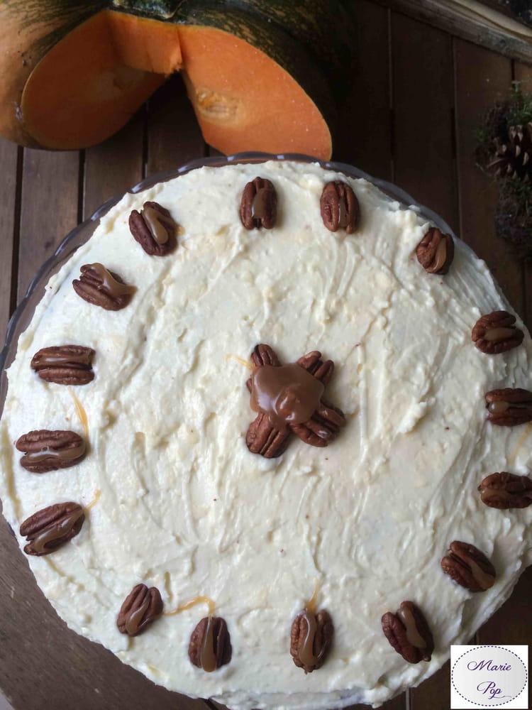 Recette de pumpkin layer cake la recette facile - Gateau a la citrouille facile ...