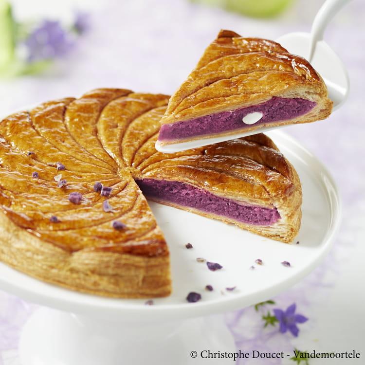 Recette de galette des rois cr me violette amande la recette facile - Recette facile galette des rois ...