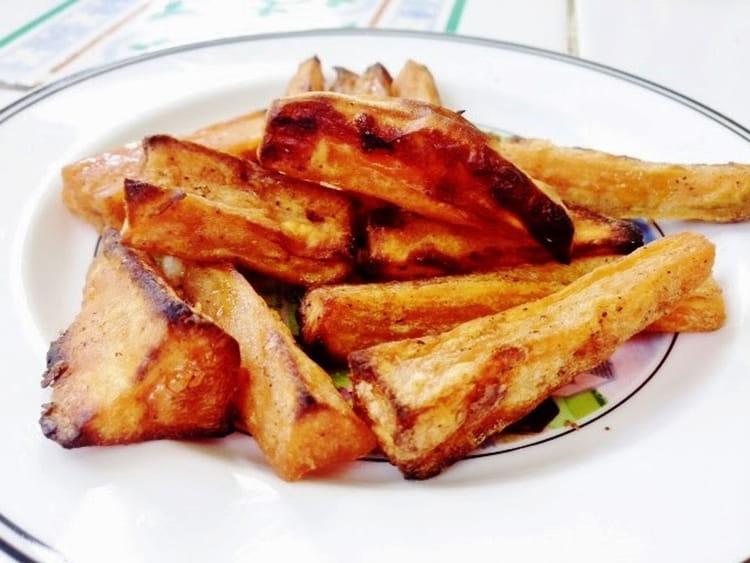 frites de patates douces au four la recette facile. Black Bedroom Furniture Sets. Home Design Ideas