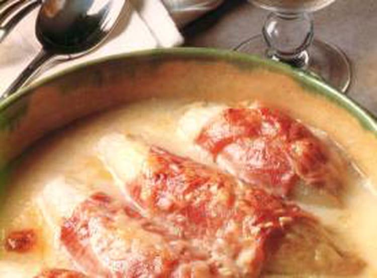 Recette de gratin d 39 endives au jambon la recette facile - Recette endives au jambon ...