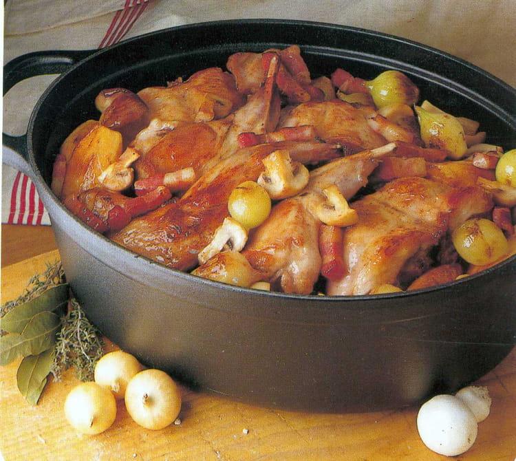 Recette de lapin saut chasseur la recette facile for Petit plat facile a cuisiner