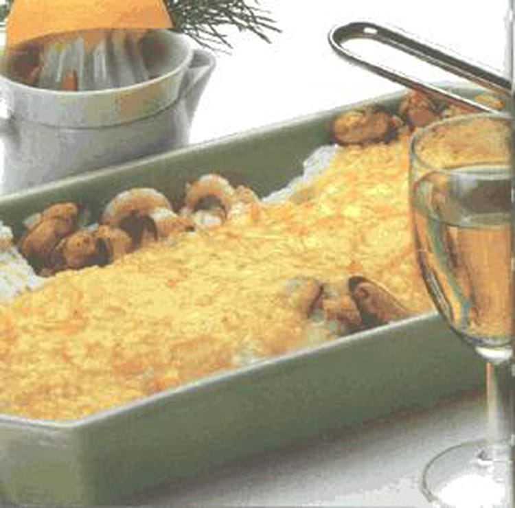 recette de gratin de poisson fruits de mer et champignons la recette facile. Black Bedroom Furniture Sets. Home Design Ideas