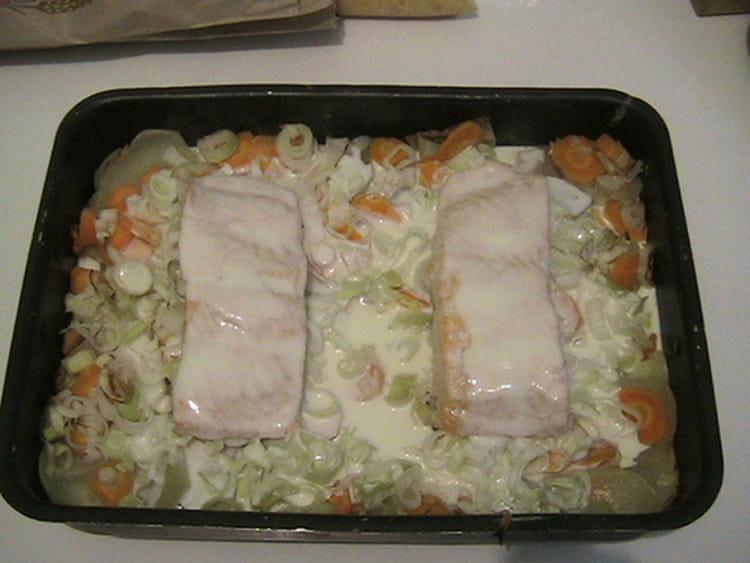 Recette de pav de saumon et ses petits l gumes la - Comment cuisiner des paves de saumon ...