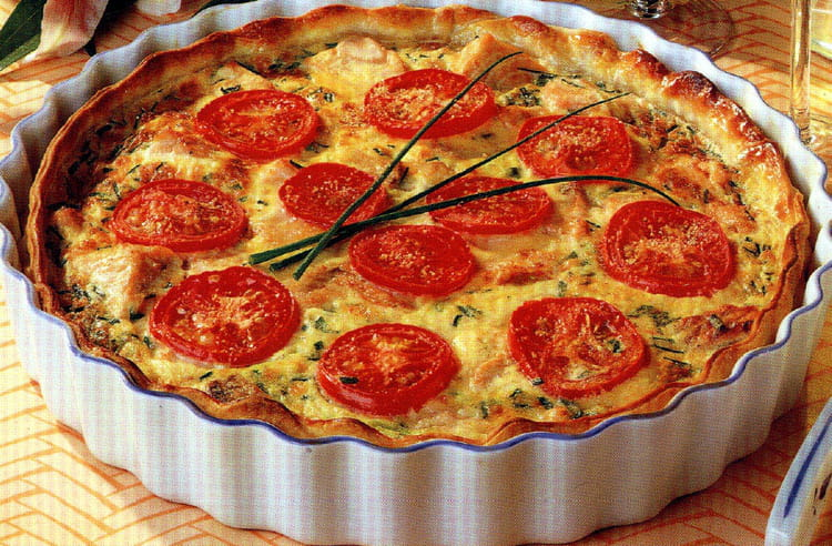 recette de quiche poireau tomate saumon la recette facile. Black Bedroom Furniture Sets. Home Design Ideas