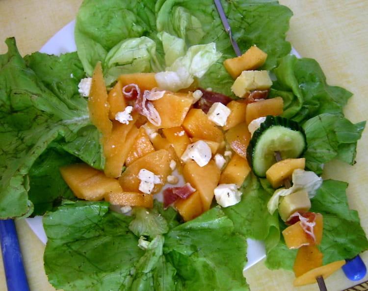 Recette de salade et brochettes d 39 t la recette facile - Salade originale ete ...