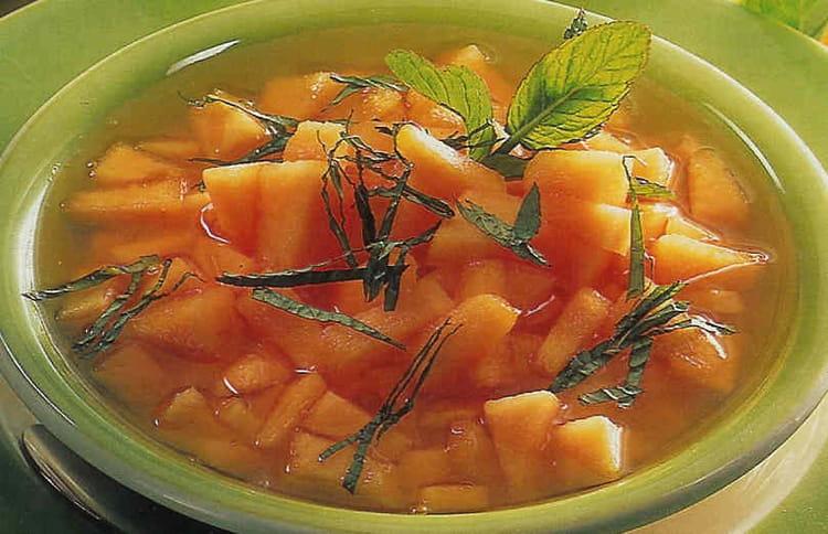 recette de soupe rafra chie de melon la recette facile. Black Bedroom Furniture Sets. Home Design Ideas